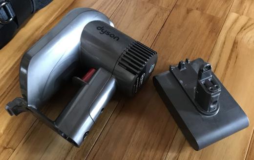 ダイソンの掃除機DC35のバッテリー交換